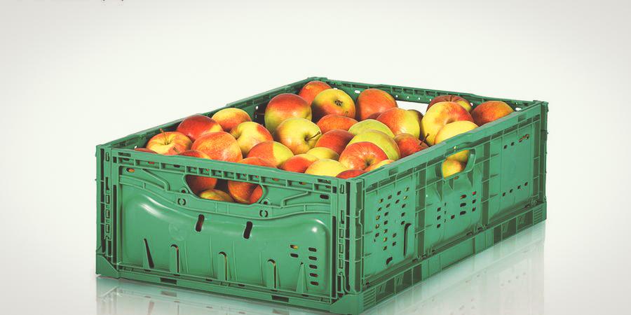 Las cajas de plástico reutilizables consumen un 57% menos de energía que las de cartón de un solo uso